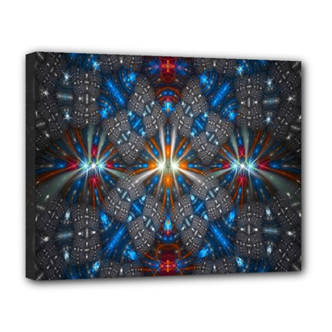 Fancy Fractal Pattern Canvas 14  X 11  by Simbadda