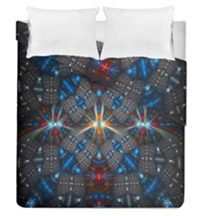 Fancy Fractal Pattern Duvet Cover Double Side (queen Size) by Simbadda