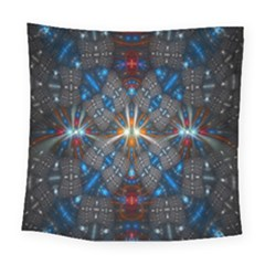 Fancy Fractal Pattern Square Tapestry (large) by Simbadda
