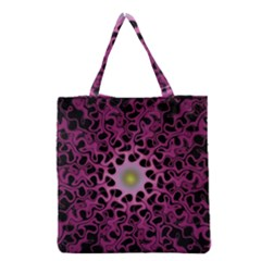 Cool Fractal Grocery Tote Bag by Simbadda