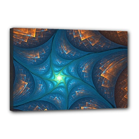 Fractal Star Canvas 18  X 12  by Simbadda