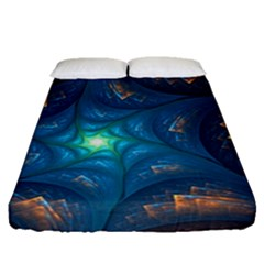 Fractal Star Fitted Sheet (queen Size)