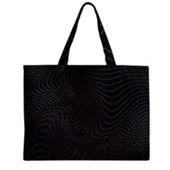 Distorted Net Pattern Mini Tote Bag