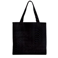 Distorted Net Pattern Zipper Grocery Tote Bag by Simbadda