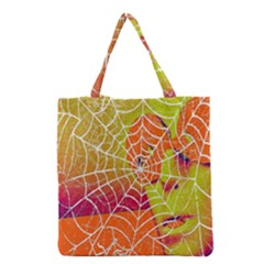 Orange Guy Spider Web Grocery Tote Bag by Simbadda