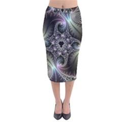 Beautiful Curves Velvet Midi Pencil Skirt