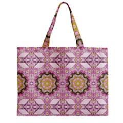 Floral Pattern Seamless Wallpaper Zipper Mini Tote Bag by Simbadda