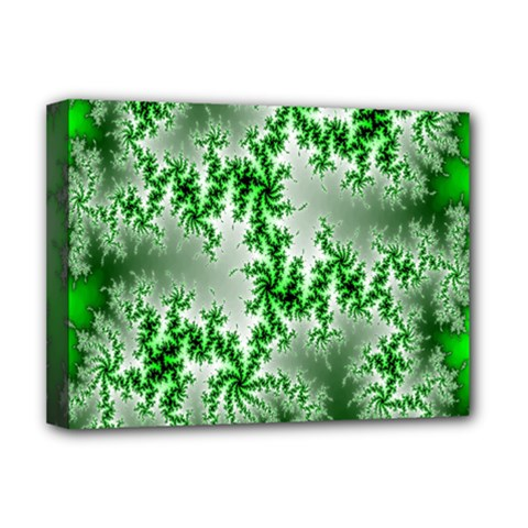 Green Fractal Background Deluxe Canvas 16  X 12   by Simbadda