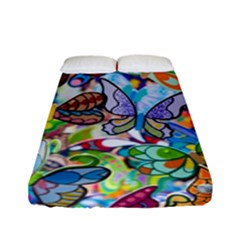 Color Butterfly Texture Fitted Sheet (full/ Double Size) by Simbadda