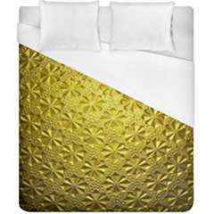 Patterns Gold Textures Duvet Cover (California King Size)