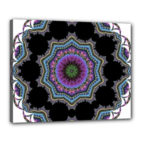 Fractal Lace Canvas 20  x 16  by Simbadda