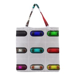 9 Power Button Grocery Tote Bag