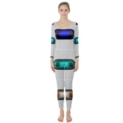 9 Power Button Long Sleeve Catsuit by Simbadda