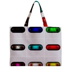 9 Power Button Medium Zipper Tote Bag by Simbadda