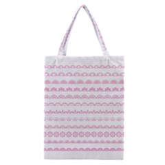 Pink Lace Borders Pink Floral Flower Love Heart Classic Tote Bag by Alisyart