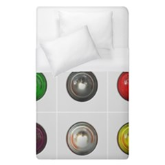 9 Power Buttons Duvet Cover (single Size) by Simbadda