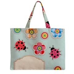 Buttons & Ladybugs Cute Medium Tote Bag by Simbadda