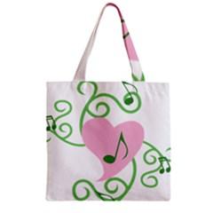 Sweetie Belle s Love Heart Music Note Leaf Green Pink Zipper Grocery Tote Bag by Alisyart