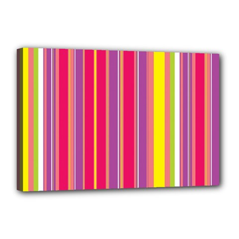 Stripes Colorful Background Canvas 18  X 12  by Simbadda