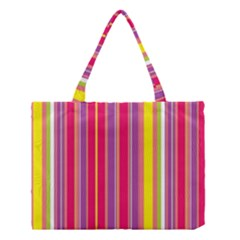 Stripes Colorful Background Medium Tote Bag by Simbadda