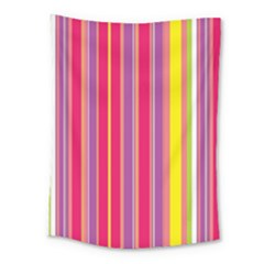 Stripes Colorful Background Medium Tapestry by Simbadda