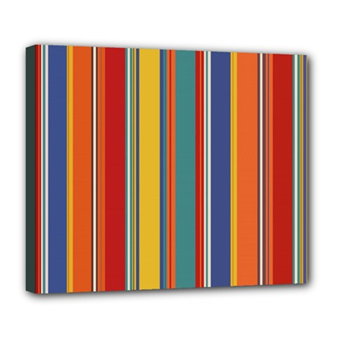 Stripes Background Colorful Deluxe Canvas 24  X 20   by Simbadda