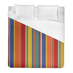 Stripes Background Colorful Duvet Cover (full/ Double Size) by Simbadda