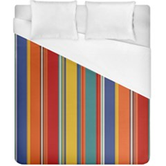 Stripes Background Colorful Duvet Cover (California King Size)