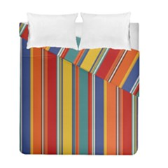 Stripes Background Colorful Duvet Cover Double Side (full/ Double Size) by Simbadda