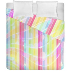 Abstract Stripes Colorful Background Duvet Cover Double Side (california King Size) by Simbadda