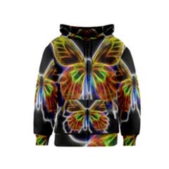 Fractal Butterfly Kids  Zipper Hoodie