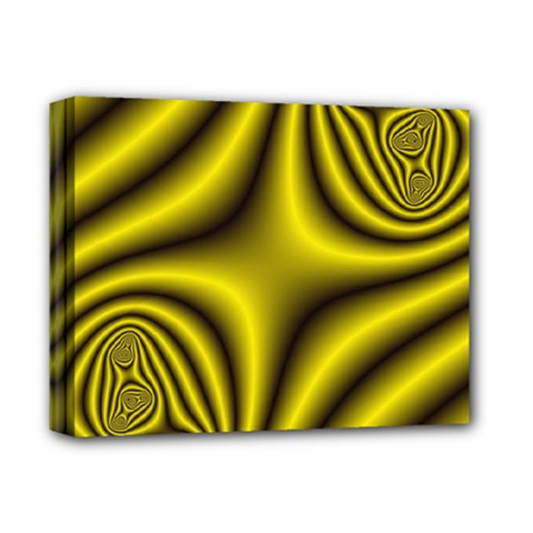 Yellow Fractal Deluxe Canvas 14  X 11  by Simbadda