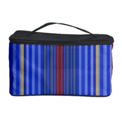 Colorful Stripes Cosmetic Storage Case by Simbadda
