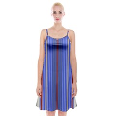 Colorful Stripes Spaghetti Strap Velvet Dress