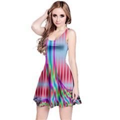 Fractal Tree Reversible Sleeveless Dress