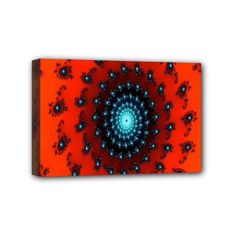 Red Fractal Spiral Mini Canvas 6  X 4  by Simbadda