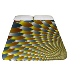 Fractal Spiral Fitted Sheet (queen Size)