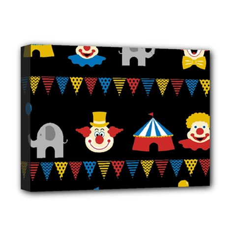 Circus  Deluxe Canvas 16  X 12   by Valentinaart