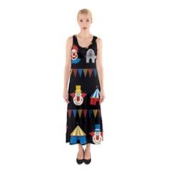 Circus  Sleeveless Maxi Dress by Valentinaart