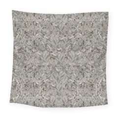 Silver Tropical Print Square Tapestry (large) by dflcprints