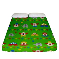 Circus Fitted Sheet (queen Size) by Valentinaart