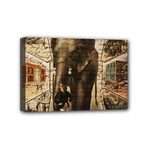 Vintage Circus  Mini Canvas 6  X 4  by Valentinaart