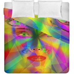 Rainbow Girl Duvet Cover Double Side (king Size) by Valentinaart