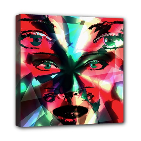 Abstract Girl Mini Canvas 8  X 8  by Valentinaart