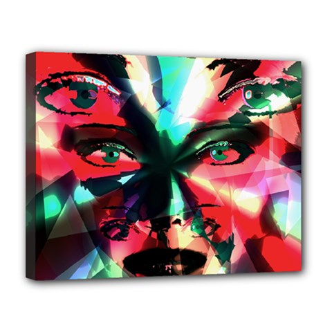 Abstract Girl Canvas 14  X 11  by Valentinaart