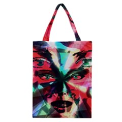 Abstract Girl Classic Tote Bag by Valentinaart