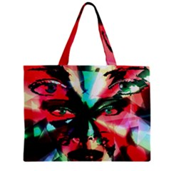 Abstract Girl Zipper Mini Tote Bag by Valentinaart