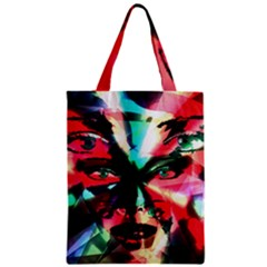 Abstract Girl Zipper Classic Tote Bag by Valentinaart