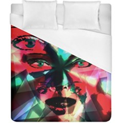 Abstract Girl Duvet Cover (california King Size) by Valentinaart