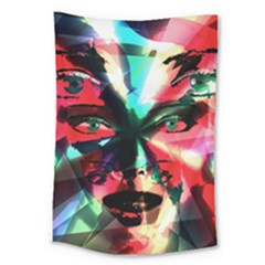 Abstract Girl Large Tapestry by Valentinaart